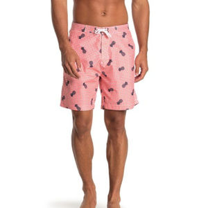 Trunks Surf and Swim Co Gingham Pineapple Shorts M